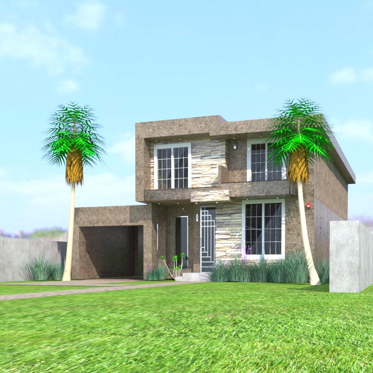3D designed house