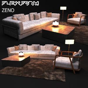 3D elegant sofa modern style model
