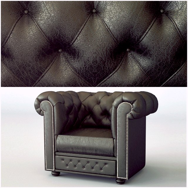 chesterfield classic chair 3D model