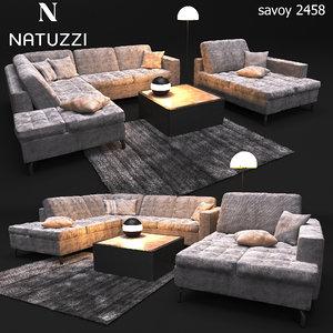 sofa natuzzi sawoy 2458 3D model