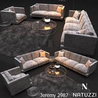 sofa natuzzi jeremy 2987 3D model