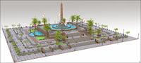 Square Plaza Fountain
