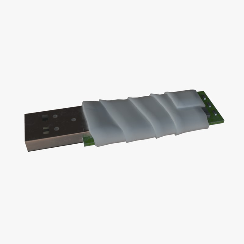 usb flash drive repaired 3D model
