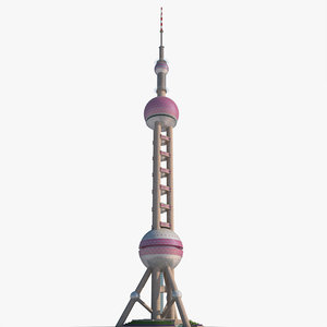3D oriental pearl tower
