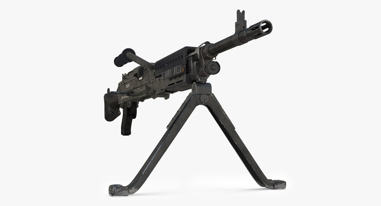 m240b machine gun 3D