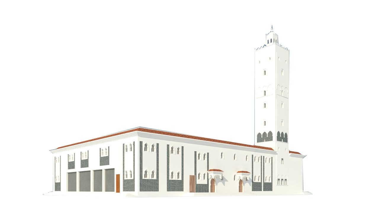 mosque exterior model