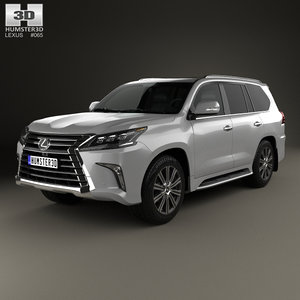 3D model lexus lx 2016