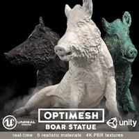 3D boar statue -