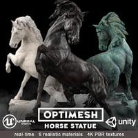 Horse Statue - 3D PBR VR AR model