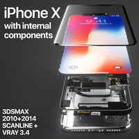 3D apple iphone x components