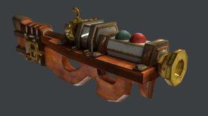 weapon steampunk 3D model