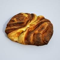3D model pastry