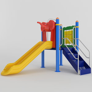 children slide playground 3D