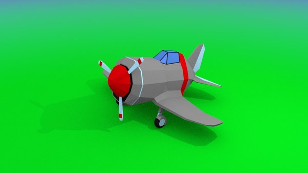 3D wwii plane
