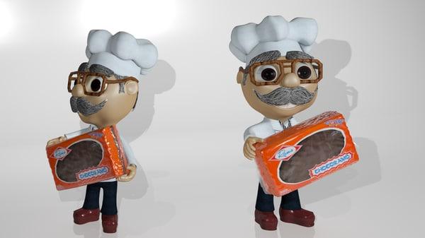 character camera 3D model