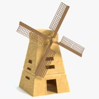 egyptian windmill 3D model