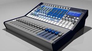 3D model digital studio mixer