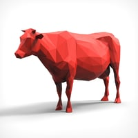 cow polygonal 3D model