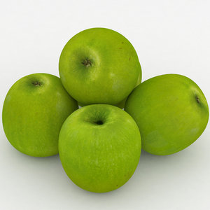 3D apple fruit granny smith