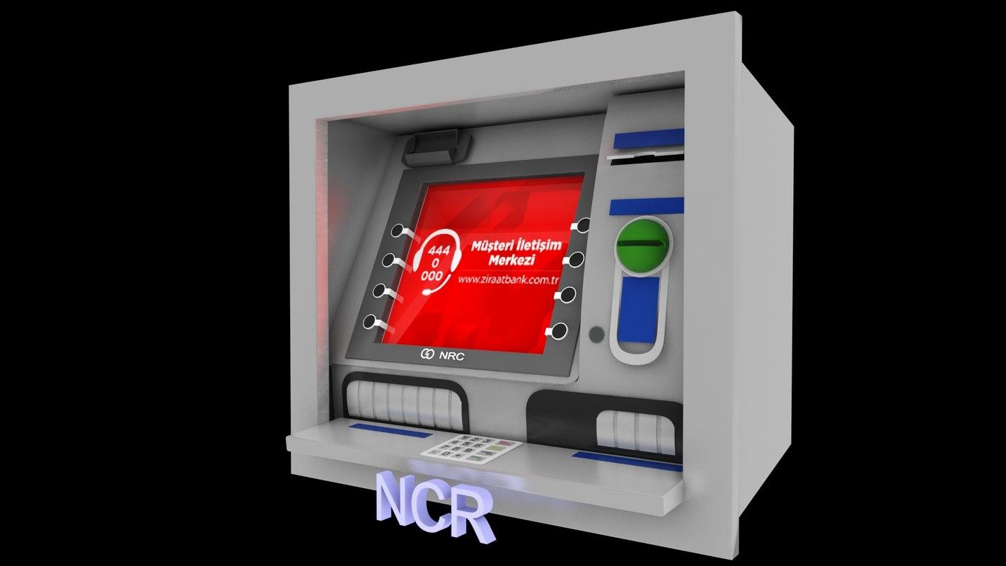 3D ncr bank atm money