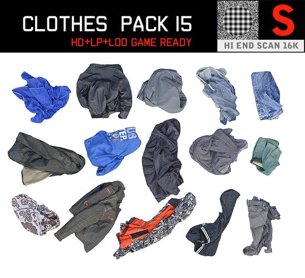 3D clothes floor pack 15