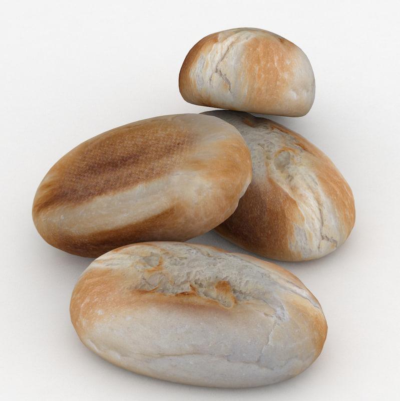 bread roll bun finger model