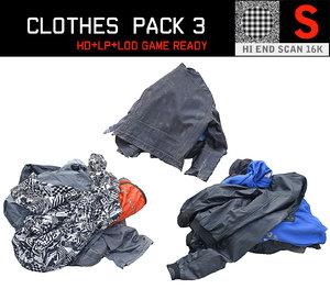 clothes floor pack 3 3D model