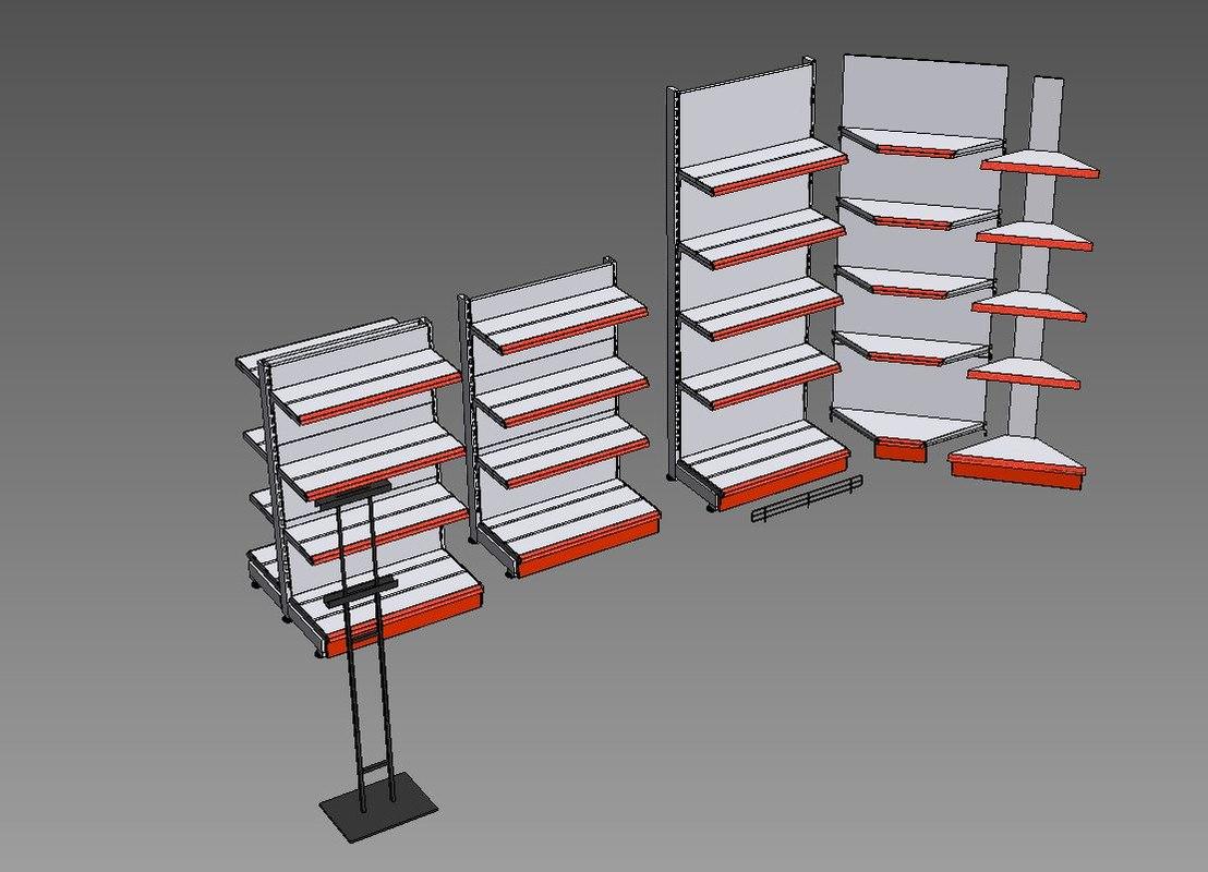 market shelf 3D model