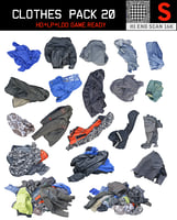 3D clothes floor pack 20