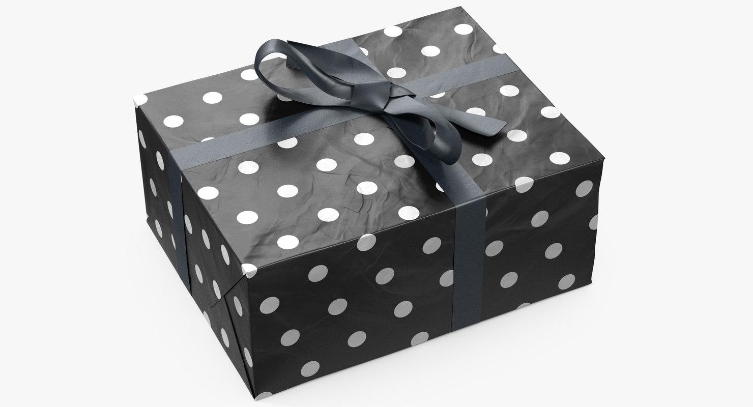 3D gift box 6 model
