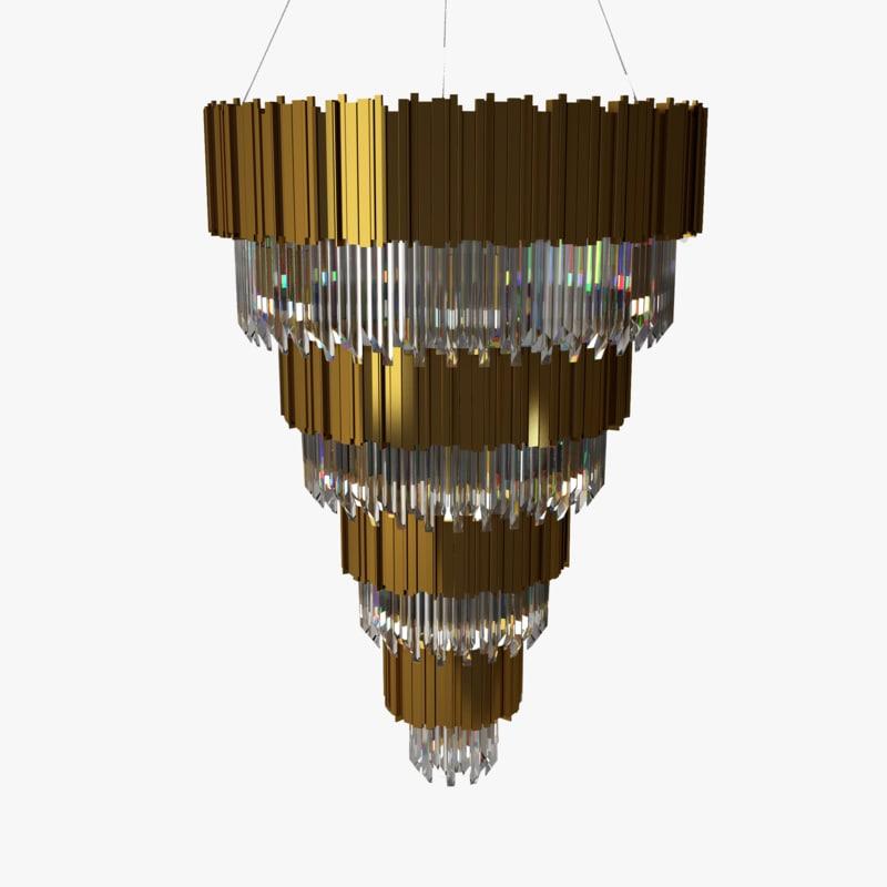 3D luxxu empire chandelier