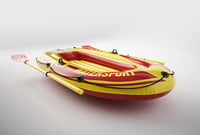 Inflatable rubber boat.