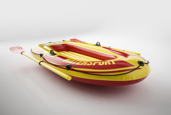 inflatable rubber boat 3D model
