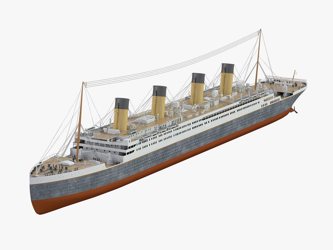 ship titanic 3D model