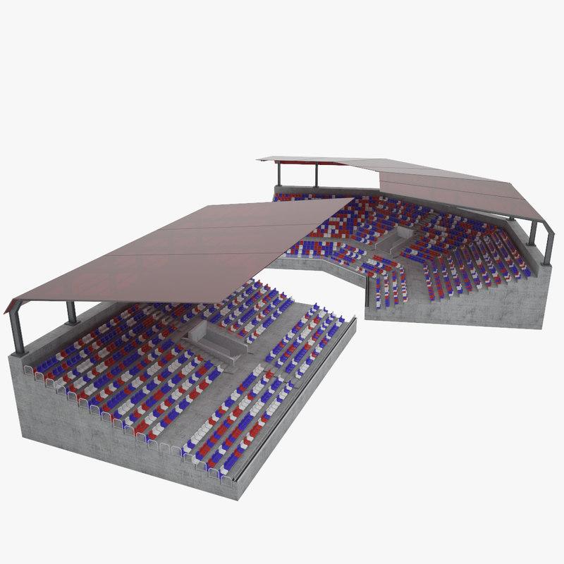 3D stadium tribune model
