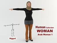 young arab woman model