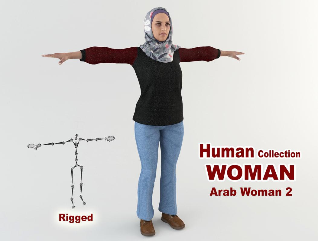 3D young arab woman