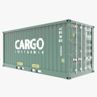 container modeled 3D