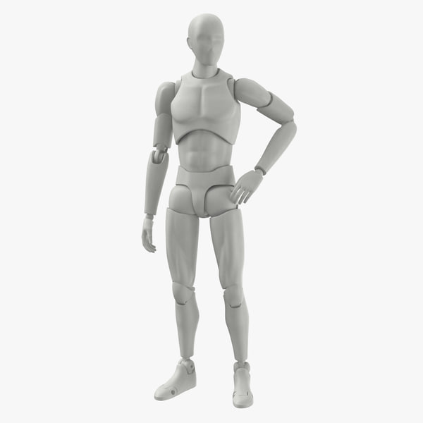 3D male mannequin rigged model