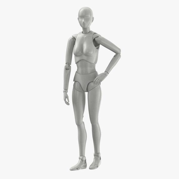 female mannequin rigged 3D model