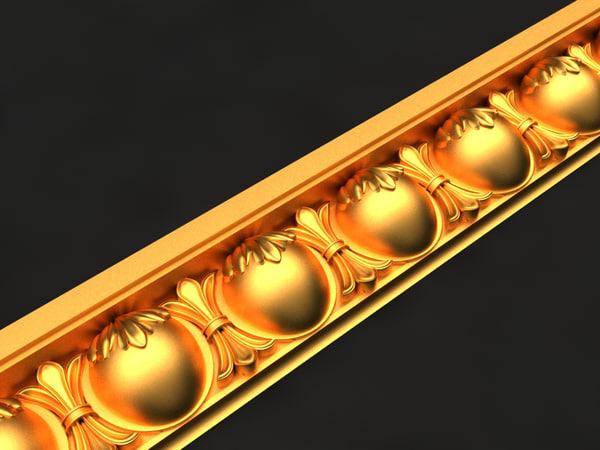cornice mold decor 3D model