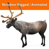 reindeer rigged deer animation 3D model