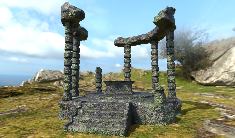 ruined altar 3D model
