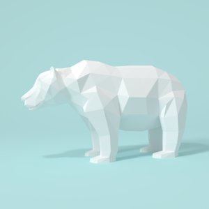 3D model cartoon polar bear