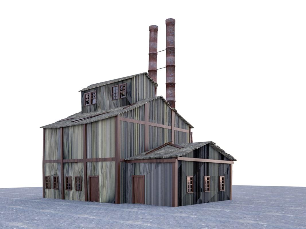 3D old factory revit model