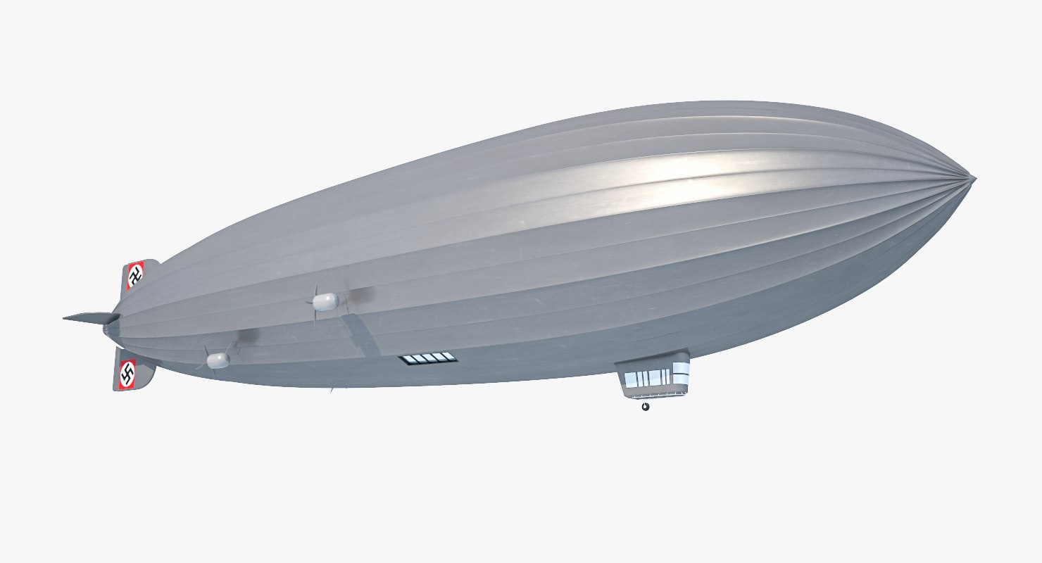 3D hindenburg zeppelin -