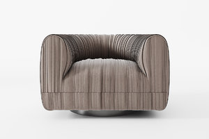 3D maia ruched swivel armchair model