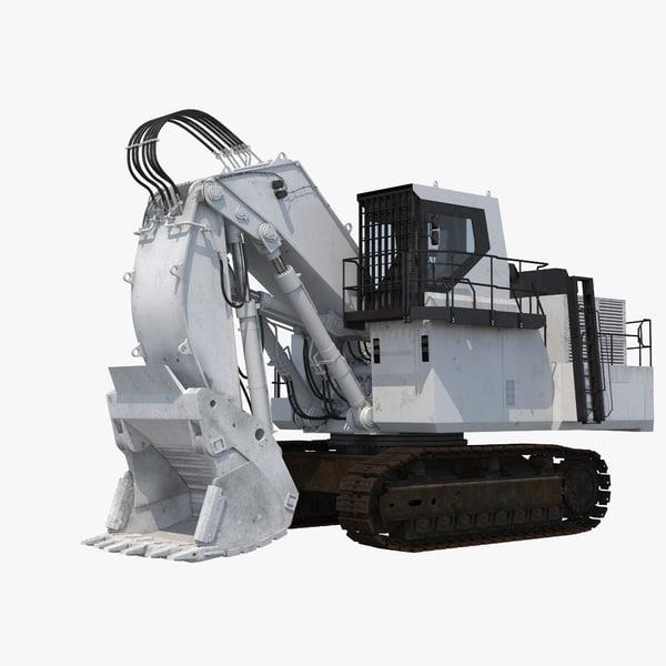 3D size shovel boom excavator