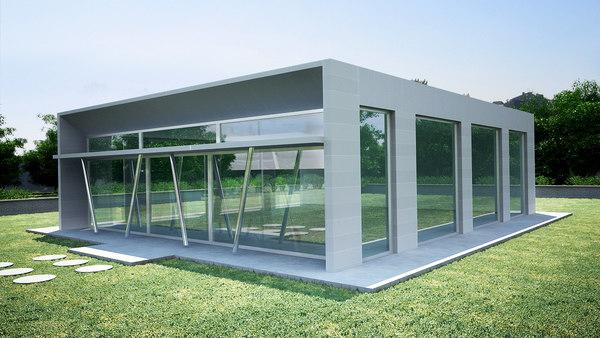 3D model aluminum facade
