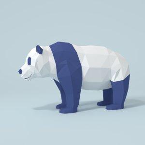 3D panda bear model